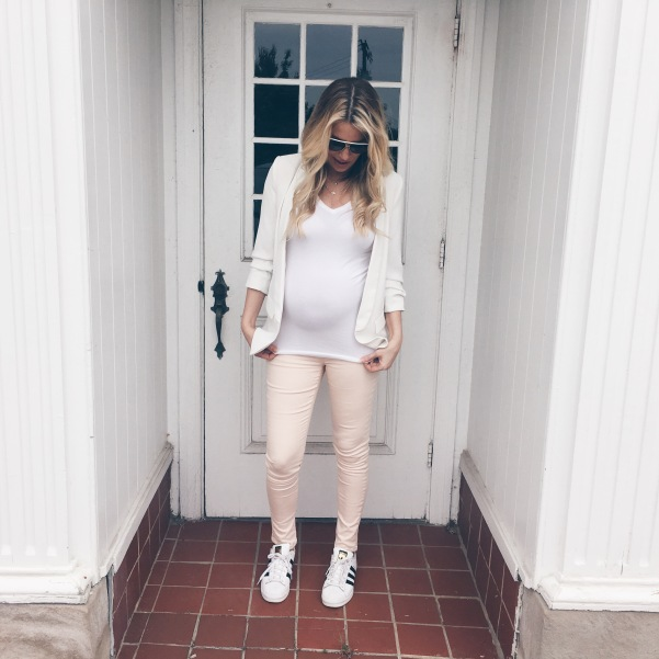 Seraphine Blush Pink Maternity Jeans
