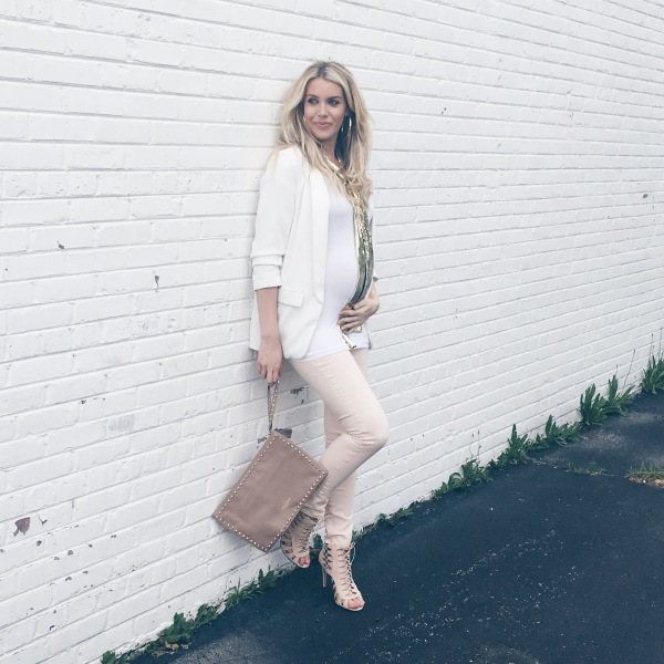 Skinny Maternity Jeans and a Blazer