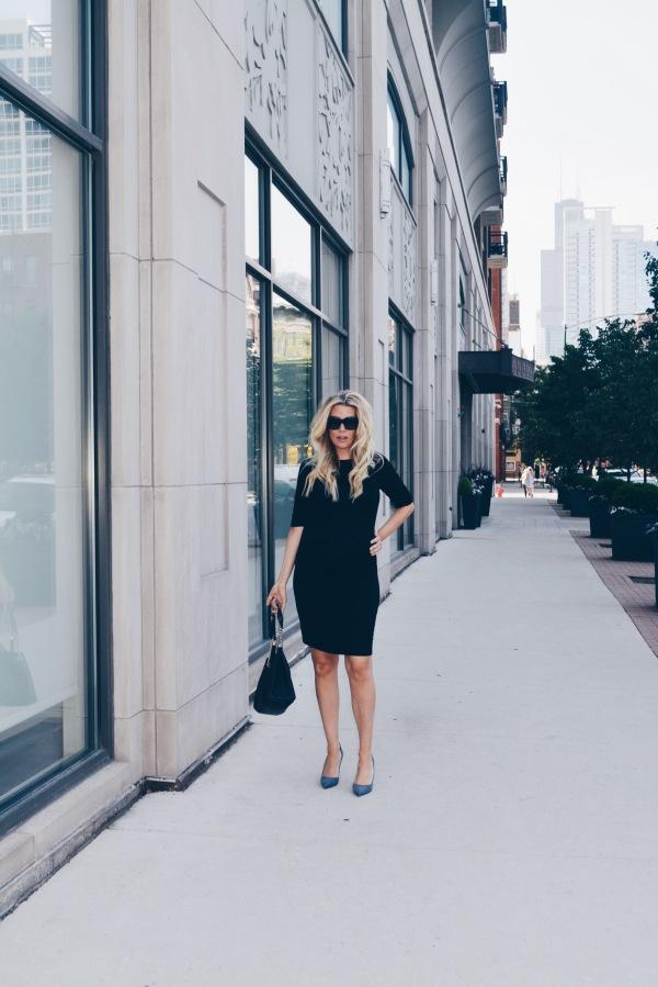 Seraphine Maternity Black Shift Dress
